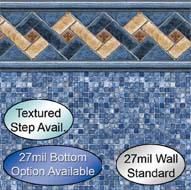 Rustic custom pool liners